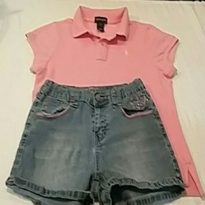 Ralph Lauren polo with Lulu love shorts